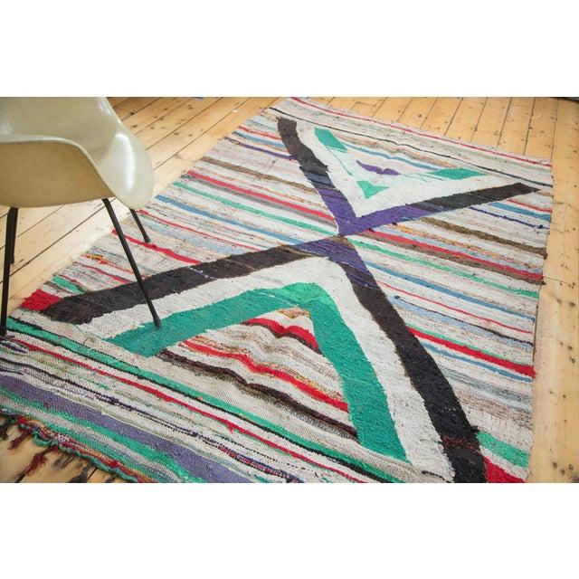 "Vintage Rag Rug Carpet - 5'1"" X 8' - Image 4 of 9"