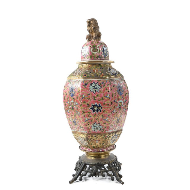 Chinese 19th Century Famille Pink Porcelain Urn For Sale In Los Angeles - Image 6 of 10
