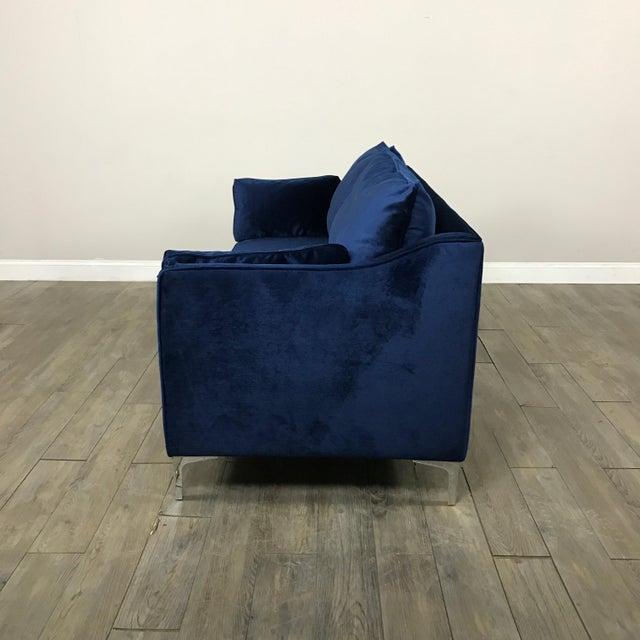 Royal Blue Velvet Sofa - Image 10 of 11