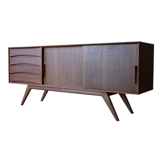 Long Mid Century Modern Styled Teak Credenza Sideboard For Sale