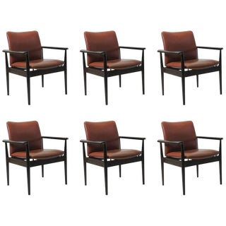 1960's Vintage Finn Juhl Model 209 Diplomat Chair- Set of 6 For Sale