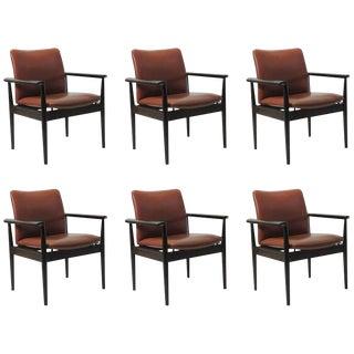 1960's Vintage Finn Juhl Model 209 Diplomat Chair- Set of 6 For Sale