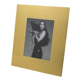 1970s Gilt Aluminum Picture Frame by Umberto Mascagni For Sale