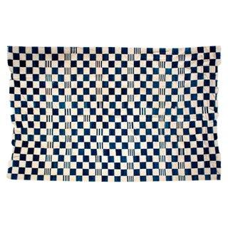 Antique Handwoven Dogon Indigo Blanket For Sale