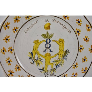 18th C. Nevers French Revolution Tin-Glazed Dish - La Carmagnolles Preview