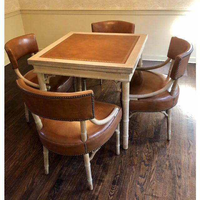 Vintage Game and Card Table With Chairs For Sale - Image 11 of 13
