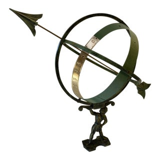 Swedish Vintage Mixed Metal Armillary For Sale