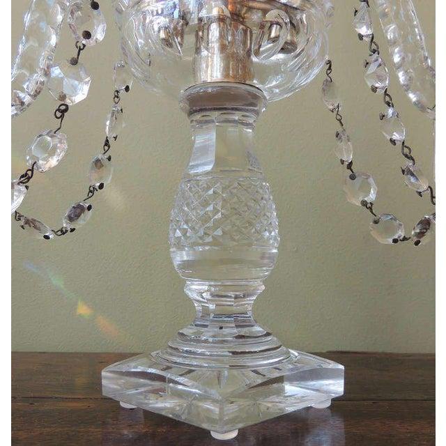 Crystal Mid 19th C Anglo-Irish Crystal Girandoles For Sale - Image 7 of 8