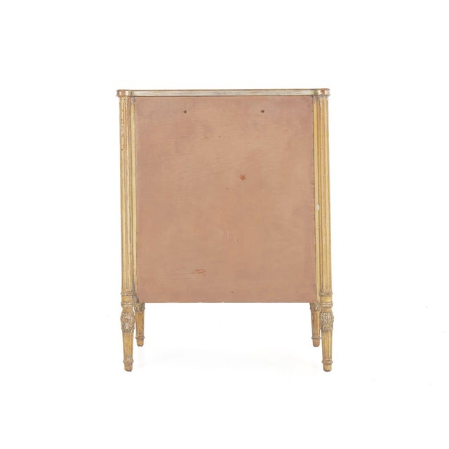 Early 20th Century Circa 1940s French Louis XVI Style Antique Painted Desk Over Chest of Drawers For Sale - Image 5 of 13