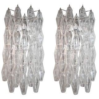 Long Venini Style Sconces - a Pair For Sale