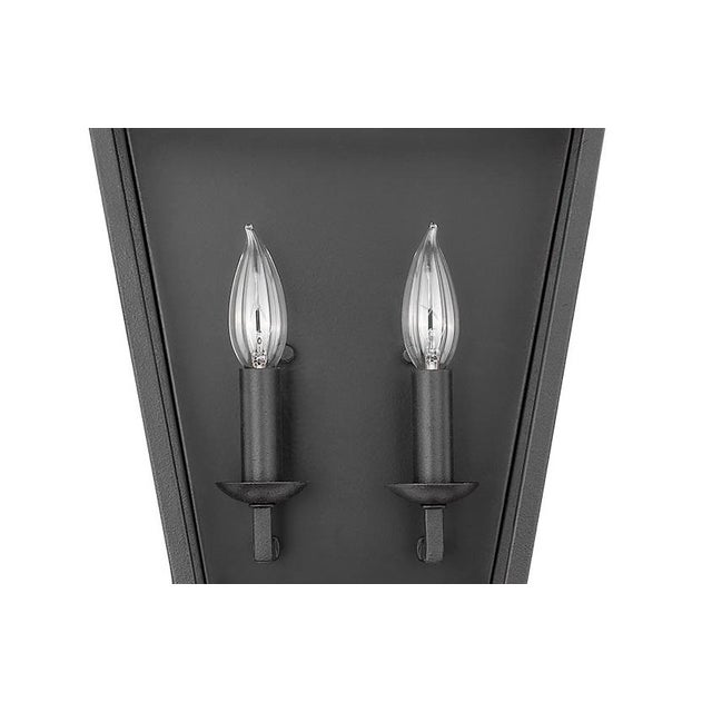 Ponce City 2 Light Sconce, Forged Black For Sale - Image 4 of 8