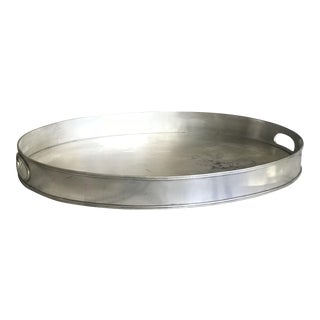 Oval Pewter Tray