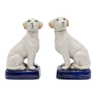 Antique English Staffordshire Dogs Figurines - a Pair For Sale