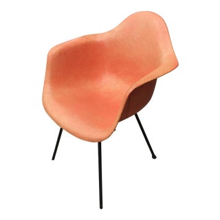 1950s Mid-Century Modern Eames for Herman Miller Salmon Molded Fiberglass Chair