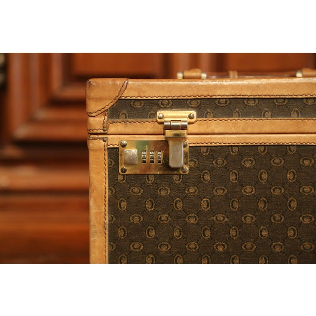 Gold 19th Century French Leather Toiletry Box With Decorative Trim and Brass Hardware For Sale - Image 8 of 13