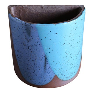 """Mid Century David Cressy for Architectural Pottery """"Flame Glaze"""" Planter For Sale"""