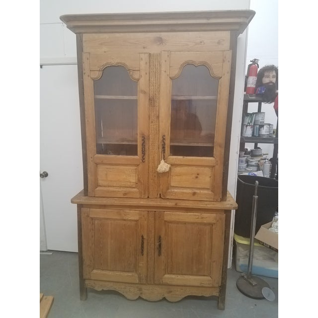 Primitive Antique Pine Cupboard - Made in France For Sale - Image 13 of 13