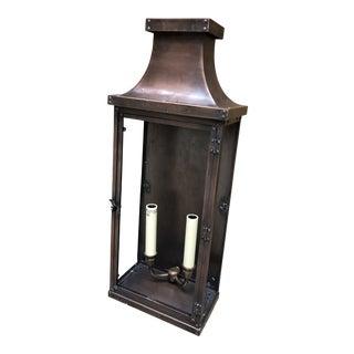 E F Chapman Natural Copper Finish Bedford Lantern For Sale