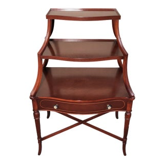 Mahogany Three Tiered Etagere For Sale