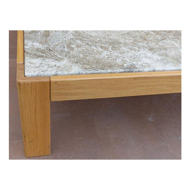 Knoll Knoll Beechwood and Marble Coffee Table For Sale - Image 4 of 10