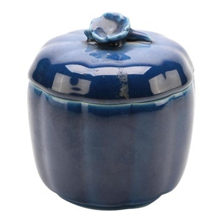 1924 Rookwood Pottery Blue Lidded Box For Sale