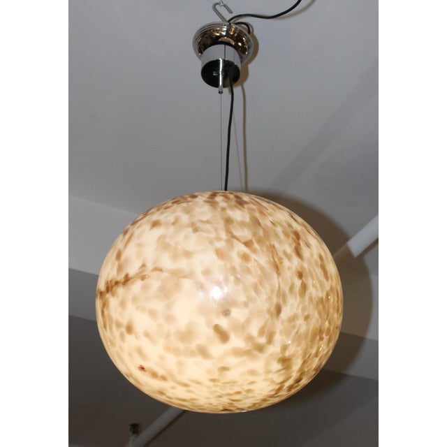 Cream Murano Glass Large Pendant For Sale - Image 8 of 13