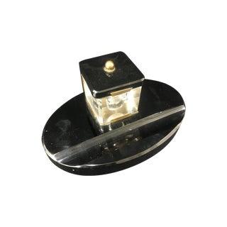 Black Onyx Desk Set For Sale