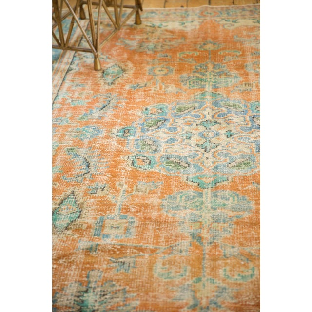 """Vintage Distressed Oushak Carpet - 6'4"""" X 9'3"""" For Sale In New York - Image 6 of 13"""