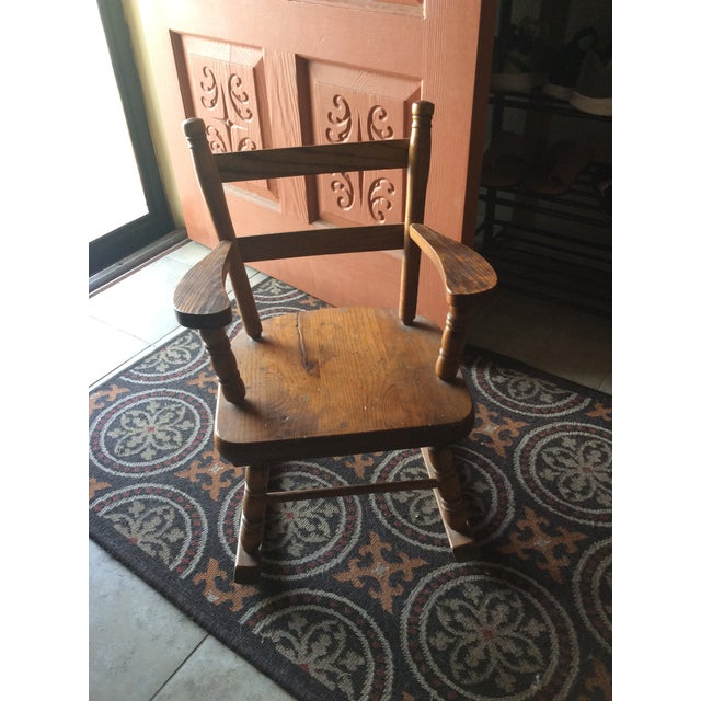 I'm selling my 1970s solid wood rocking chair. This was given to me by my grandmother right before she died in 1978. I had...