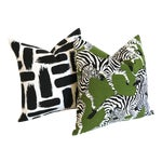 Zebra & Abstract Pillow Covers - a Pair