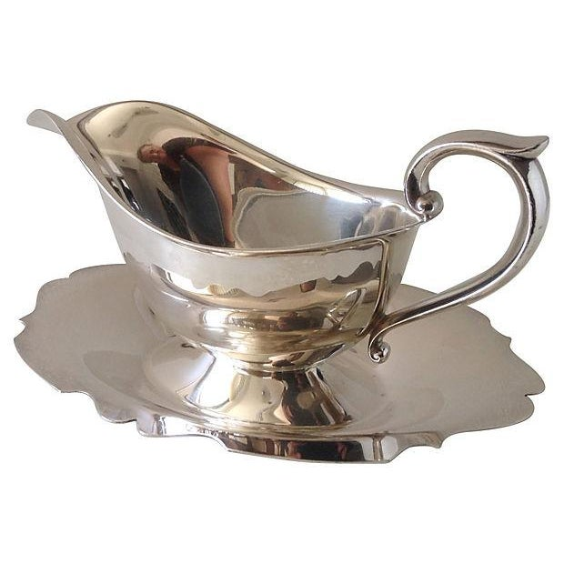 Gorham Silver Gravy Boat W/Attached Underplate - Image 4 of 5