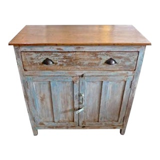 French 19th Century Hand-Painted Pinewood Two Door Buffet For Sale