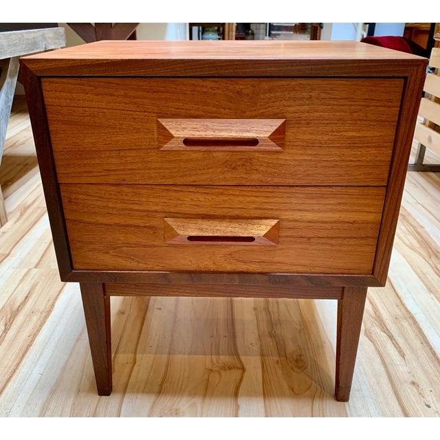 1960s 1960s Danish Modern Teak and Rosewood Nightstand For Sale - Image 5 of 13
