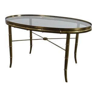 1960s Vintage Mastercraft Brass Side Table For Sale