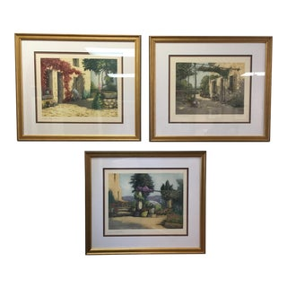 French Hand Colored Engravings of Northern France - Set of 3 For Sale