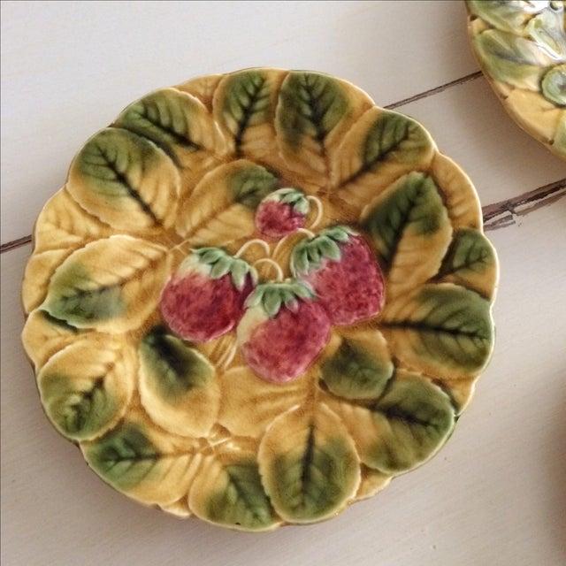 French Sarreguemines Majolica Plates - Set of 5 - Image 6 of 11
