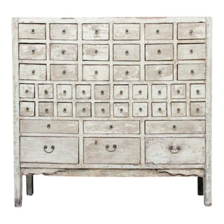 Extraordinary Antique Asian Apothecary Cabinet For Sale