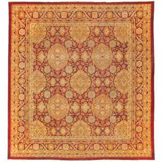 Pasargad Home Antique Agra Wool Area Rug - 12' X 13' For Sale