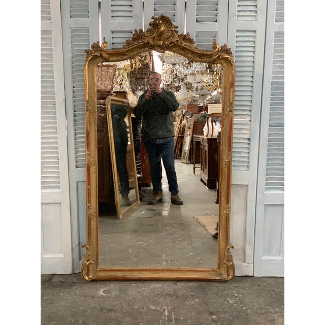 18th Century Original Grand Louis Philippe Style Mirror For Sale - Image 10 of 10