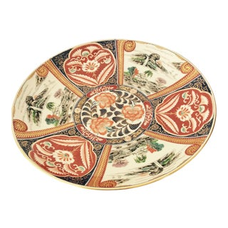 Japanese Polychrome Floral & Landscape Imari Plate