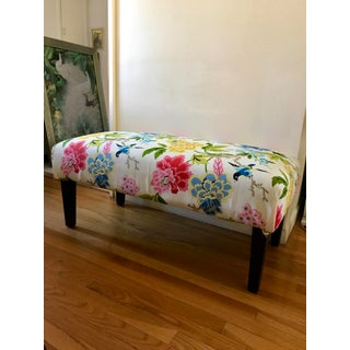Upholstered Asian Floral Bench Preview