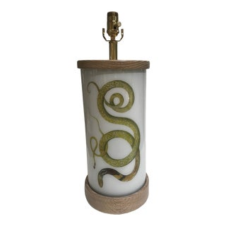 Liz Marsh Designs Single Golden Serpent Table Lamp For Sale