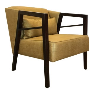 Thomasville Modern Gold Lounge Chair For Sale