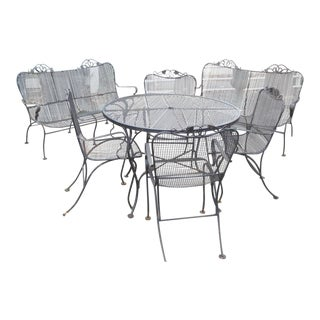 Vintage Modern Patio Set in the Style of Russell Woodard For Sale