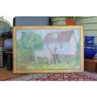 Michelle Farro Original Farm Scene Canvas Painting Preview