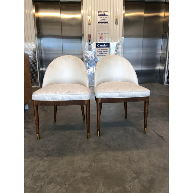 Suzanne Kasler for Hickory Chair. Inspired by the French Moderne chairs of the 1930s. Contoured back, reeded apron,...