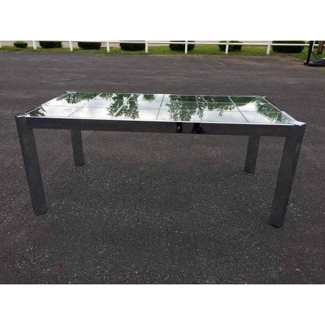 DIA - Design Institute America Design Institute of America Chrome & Glass Dining Table For Sale - Image 4 of 11