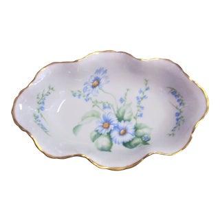 1960s Vintage Limoges Porcelain Dish For Sale