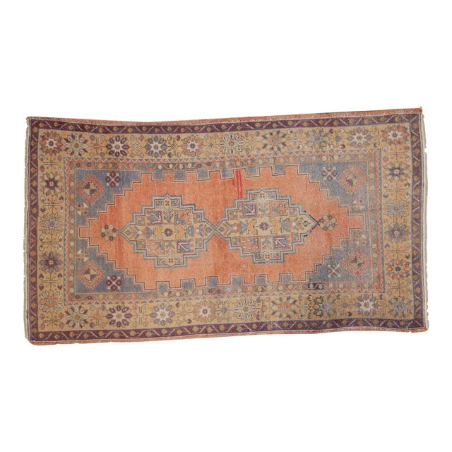 "Vintage Distressed Oushak Rug - 3'9"" x 6'6"" - Image 1 of 11"