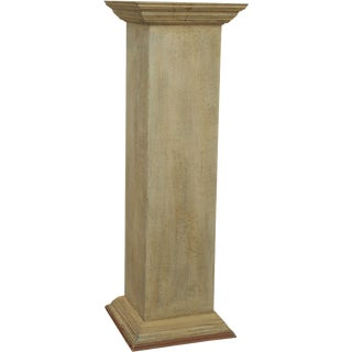 PS Collection Custom Crafted Painted Wood Pedestal For Sale